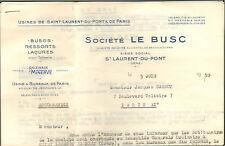 38 SAINT-LAURENT-DU-PONT PARIS COURRIER STE LE BUSC RESSORTS POUR CORSETS 1959