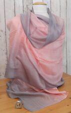 Schal Seide rosa grau dip dye Seidenschal Tuch Stola Schultertuch Pashmina Scarf