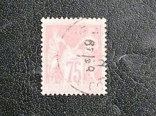 TIMBRES DE FRANCE : 1876/78 YVERT N° 81 - 75 CENTIMES ROSE N SOUS U - EN TBE
