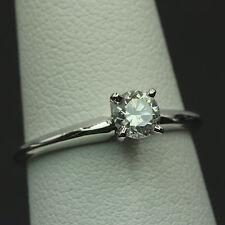0.40 Carat Natural Round Cut Diamond Solitaire Engagement Wedding Ring 14k Gold
