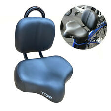 Black Large Saddle Seat Bike Bicycle Cruiser Chopper Comfort with Back Support
