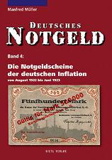 Deutsches Notgeld-Scheine Band 4 Inflation Geld 1922-1923 Notgeldausgaben Buch