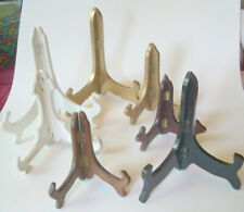 Display Easels Wood and Plastic Stand Folding Lot Of 7