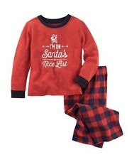 NWT's OshKosh 2 pc Boys I'm On Santa's Nice List Pajamas Sleepwear Size 10