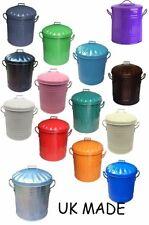 small 15litre Metal Bin Mini Rubbish Waste Paper Bathroom Bedroom Colour Dustbin