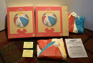 3 DISNEY BEACH BALLS MICKEY MOUSE LOT - JUNK FOOD SWIMWAYS - NEVER BEEN USED