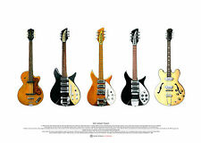 John Lennon's Guitars - ART POSTER A2 size