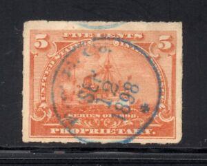 Scott # RB31, Used, VF, 5¢ Battleship, Farbenfabriken of Elberfeld Co., New York