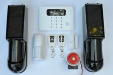 Wireless GSM SMS Home Security Burglar House/Perimeter Alarm System Auto Dialer