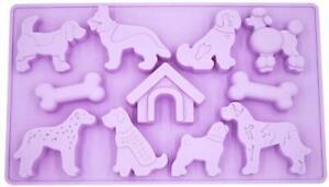 11 Cavity Dog Breeds/Bone/House Silicone Mold Chocolate Mould Doggy Puppy Animal
