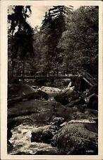 Jocketa im Vogtland alte DDR AK + Stempel 1954 Partie im Triebtal Brücke Fluss