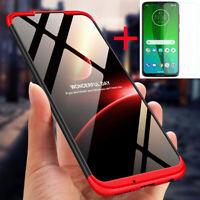 For Motorola Moto G7 360° Protection Shockproof Slim Hybrid Case+Tempered Glass