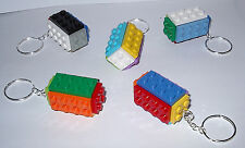 GREAT LEGO BRICK BLOCK PLATE KEY RING CHAIN KEYRING BACKPACK CHARM GIFT