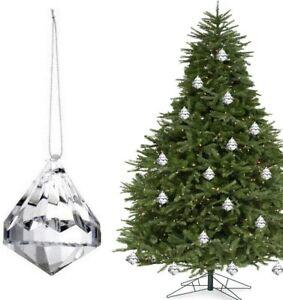 24pcs Christmas Drops Ornaments Festival Party Xmas Tree Hanging Decorations