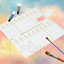 New 25 Grids Large Art Paint Tray Artist Oil Watercolor Plastic Palette White