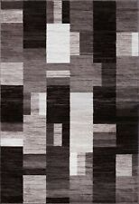 5X8 AREA RUGS - CARPET - CONTEMPORARY - BLACK AND GRAY - MODERN NEW