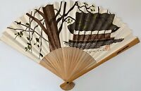 Rare Vintage Northwest Orient Hand Painted Fan Signed by Artist with Chop-NEW