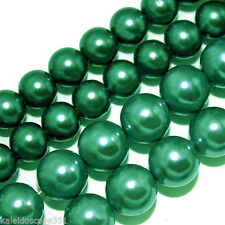 WHOLESALE GLASS PEARLS BEADS 4MM 6MM 8MM ROUND BEAD STRANDS FAUX PEARL GP