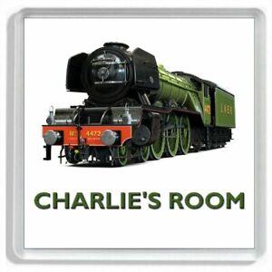 """Personalised LNER No. 4472 """"THE FLYING SCOTSMAN"""" Locomotive Door Sign / Plaque"""