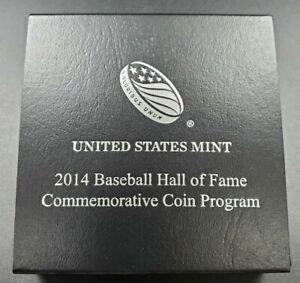 2014 Baseball Silver $1 Dollar Commemorative Coin Original Box ~ Business Strike