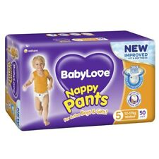 50Pk Babylove Unisex Stretchy Fit & Soft Walker Nappy Pants Size 5 12-17Kg