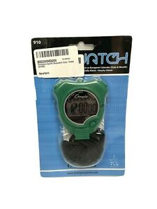 Champion All Sports Walking Running Stopwatch Timer Daily Alarm Green NEW