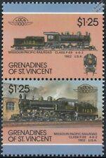 1902 clase P69 Nº 1123 4-6-2 Missouri Pacific Railroad Tren Sellos / Loco 100
