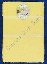 Cross Stitch Baby Towel Cotton Terry Bath Towel Yellow