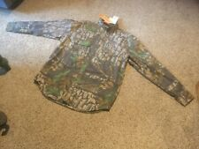 5deb0071 Mens Size L. Jerzees Outdoor Tree Bark Big Woods Hunting Shirt.