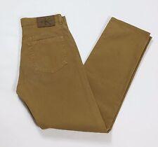 Calvin Klein jeans W32 tg 46 uomo dritti slim boyfriend ocra usato pant T2000