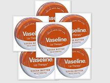 Vaseline Lip Therapy COCOA BUTTER & Petrolatum 0.6oz Pocket Size Tin (6 pack)***