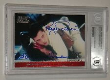 Royce Gracie Art Jimmerson Signed 2009 Topps UFC Round 1 Card BAS COA Autograph