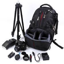 Professional Waterproof DSLR Camera Backpack Padded Case Bag + Rain Cover Black