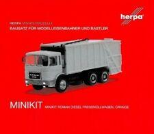 HERPA MINIKIT Bausatz 1:87/H0 LKW Pressmüllwagen, Roman Diesel, orange #013833