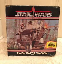 STAR WARS Ewok Battle Wagon BOX Only - Power of the Force 1984 Tri Logo