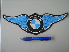 BMW CON ALI BLU PATCH TOPPA RICAMATA TERMOADESIVA CM.28x10