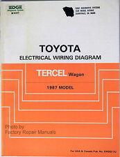 1987 Toyota Tercel Wagon Electrical Wiring Diagrams – Original Shop Manual