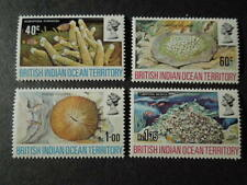 "BRITISH INDIAN OCEAN TERRITORY, SCOTT # 44-47(4) 1972 ""CORAL"" ISSUE MNH"