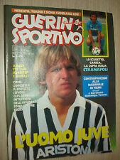 GUERIN SPORTIVO N°24  GIUGNO 1987 SCHUSTER L´UOMO JUVE CARACA NAPOLI SCUDETTO
