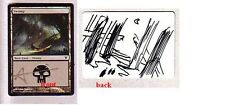 MTG ARTIST PROOF INNISTRAD SWAMP ALTERED + SIGNED ADAM PAQUETTE