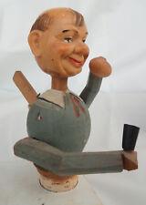 Anri Vintage Wood Carved Bottle Stopper Mechanical Carving eating and drinking