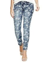 Guess Jeans Floral Jacquard Size 28 Jeggings Denim Skinny Stretch $108 Women's