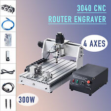 4 Axis Cnc Router Engraving Cutting Milling Machine W Rotary Axis Wood More
