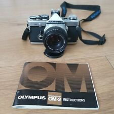 Olympus OM2n w/Zuiko 50mm F1.8 with original manual new batteries tested working