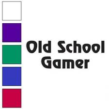 Old School Gamer Decal Sticker Choose Color + Size #1899