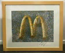 McDonald's Arches Collectible Poster in Wooden Frame *Signed*