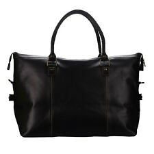 299404c760 MANDAVA Genuine Leather Travel Duffle Weekender Overnighter Tote Gym Luggage  Bag
