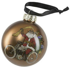 "Harley-Davidson 2020 Dated 3"" Biker Santa Glass Ball Ornament HDX-99194"