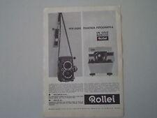 advertising Pubblicità 1964 ROLLEI ROLLEIFLEX/PROIETTORE 16