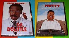EL PROFESOR CHIFLADO + DR DOLITTLE - Eddie Murphy DVD R2 Precintadas